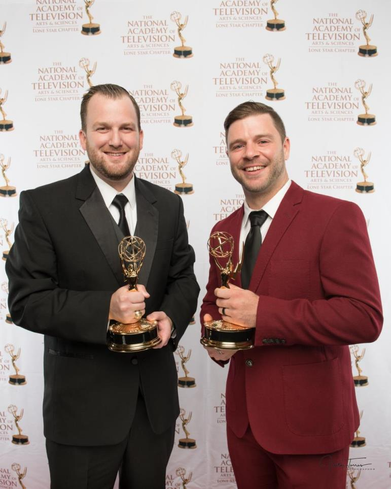 Lone Star Emmy Award picture - Brian and Brandon